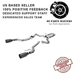 Corsa 14397gnm 304 Ss Cat-back Exhaust System Split Rear Exit For F-150 17-19