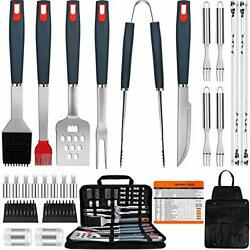 Euhome Bbq Grill Accessories Heavy Duty Grill Utensils 31 Pcs Set Extra Thick