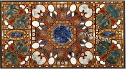 36 X 72 Inch Marble Lawn Table Top Black Dining Table Inlay Art Home Furniture