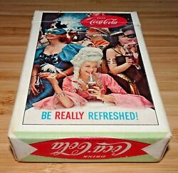 1960 Coca Cola Masqueradeparty Scene Full Playing Cards Deck W/two Jokers
