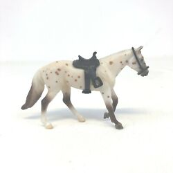Vintage Breyer Western Horse Appalossa Bridle And Saddle 4quot;