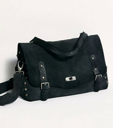Free People Mojave Messenger In Black and Matching Free People Distressed Wallet $90.00