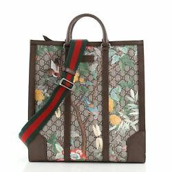 Web Strap Convertible Tote Tian Print Gg Coated Canvas Tall