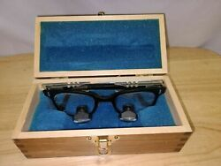 Designs For Vision Dental Surgical Loupes Yeoman Frame 2.5x Wood Case