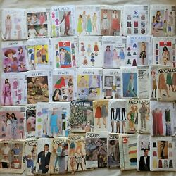 Mccall's Sewing Patterns Lot Of 19 Uncut And 24 Cut Mixed Patterns Vintage Modern