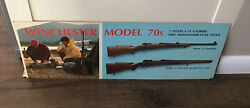 Vintage Winchester Model 70s Store Display Sign Hunting Gun Rifle Free Ship