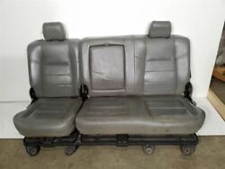 Cew Cab Grey Leather Rear Seats Assembly | Fits 05 06 07 Ford F250 F350 F450