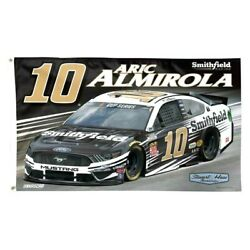 2020 Aric Almirola 10 Smithfield 3 X 5 Deluxe Flag New By Wincraft Free Ship