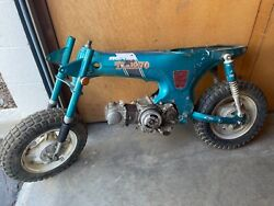 Vintage 1970 Honda Mini Trail Ct70h Ct70 H 4 Speed Rolling Frame/ Motor Project