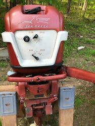 1956 Johnson 30 Hp Seahorse Outboard Motor As Nice As They Come