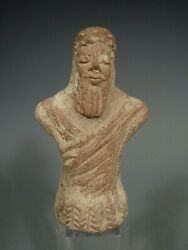 Rare Near Eastern Most Likely Syro-hittite Pottery Votive Figure Ca. 4-5th C. Bc