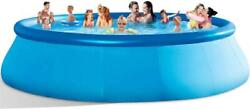 Inflatable Swimming Pools Above Ground - 14ft X 33inblow Up Full-sized Round Ou