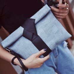 Women Clutches Bags Bow Leather Crossbody Messenger Ladies Evening Party Handbag $21.99