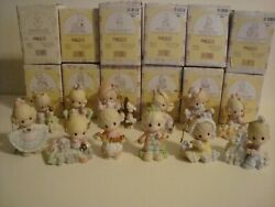 Precious Moments Ornaments 12 Days Of Christmas Complete Set 1-12 Lot W/boxes