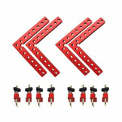 Aluminium Alloy 90 Degree Positioning Squares Right Angle Clamps Woodworking ...