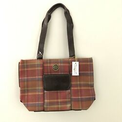 New With Tags Longaberger Homestead Plaid Purse