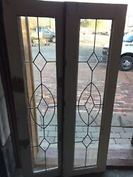Sg 943 One Available One Sold Antique Transom Window Beveled Center