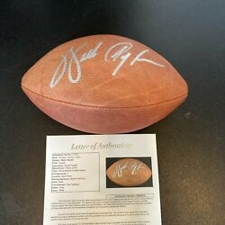 Walter Payton Signed Autographed Official Wilson Nfl Game Football With Jsa Coa