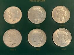 Fabulous Complete Peace Dollar Set 1921-1935 Very High Grade Brilliant Luster