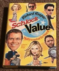 Signed Schlock Value By Richard Roeper Autographed Book Roger Ebert Rare