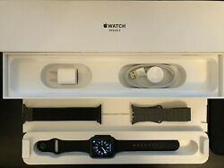 A+condition Apple Watch Series 3 Gps 42mm Space Gray Black Sport Band +2 Bands