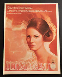 Vintage 1969 Max Factor Cosmetic Makeup Ultralucent Advertisement Ad