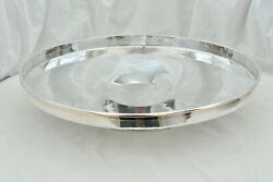 Rare George V Hm Sterling Silver Art Deco Bowl With A Gold Banded Rim 1931 37 Oz