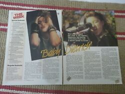 Madonna Scrapbook Clippings/poster 2 Pages Jan 1985 Tv Week Wham George Michael