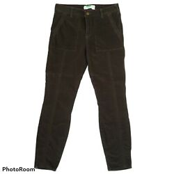 Anthropologie Brown Corduroy Skinny Trousers Pants Cottagecore Womenand039s Size 29