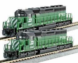 Kato N Dcc Combo 1764960dcc And 1764961dcc 2 Loco Dcc Set Sd40-2 Bn 6792 7036