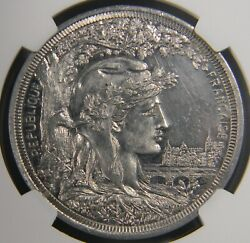 France Expo 1900 Bucyrus Oh American Clay Works Medal Ngc Ms 61 Pl Top Pop