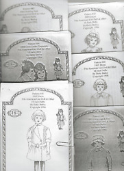 6 Patterns for 18quot; American Girl Dolls ca 1905 Samantha and Friends $24.00