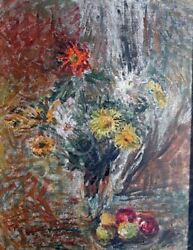 Kits-mägi, Linda 1916-1990. Still-life With Flowers And Apples. 1960s