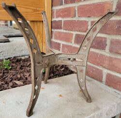 Antique Vintage Industial 3-leg Cast Iron Adjustable Metal Stand Steampunk Table