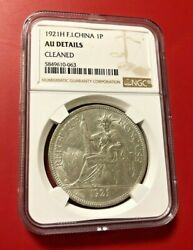 1921 H French Indo-china Silver Piastre Ngc Au Details
