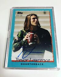 2021 Topps X Trevor Lawrence Teal Auto Card 08/16 Signed Nfl Draft 1 Football