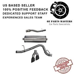 Corsa 14749blk 304 Ss Cat-back Exhaust System Dual Side For Chevy/gmc/cadillac