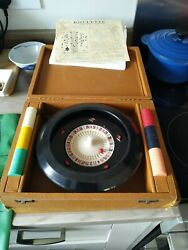 Vintage 1950's Kandc Bakelite 8 Roulette Set Game Inc Betting Mat And Tokens