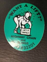 Nice Old Highway Mining Chain And Slings Coal Mining Sticker