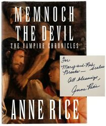 Anne Rice / Memnoch The Devil Signed First Edition 1995 103369