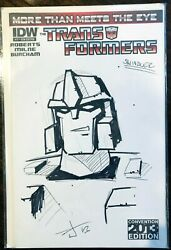 Transformers More Than Meets The Eye 17 Burcham Sketch Cover Convention 2013