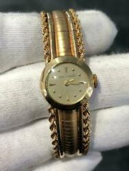 14k Yellow Gold Vintage Hand Made Jean Claude Self Winding Watch 28.4 Gr 18mm