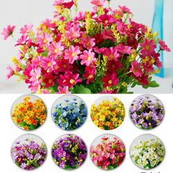 Heads Party Home Decor Flowers Chamomile Bunch Artificial Silk Flowers Bouquet