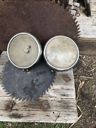Set Of Antique Ford Twolite Glass Headlight Parts Or Repairs
