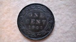 1902 Canada Large Penny 1 One Cent Canadian Copper Coin