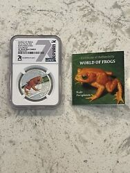🐸 Limited Mint 2 Pf70 Ultra Cameo 2014 World Of Frogs 1/2 Oz Silver 7k Special