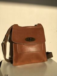 Mulberry Classic Large Antony Messenger in Oak Natural Vegetable Tanned Leather $570.00