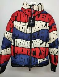 Moncler Grenoble Limmat All Over Print Logo Down Jacket Size 3 100 Authentic