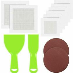 12 Pieces Wall Repair Kit Includes 8 Sheets Wall Repair Patches Aluminum Mesh...