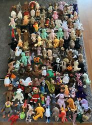 Ty Beanie Babies Large Lot Of 135 Bearsdogsducksspider + More + Hang Tags
